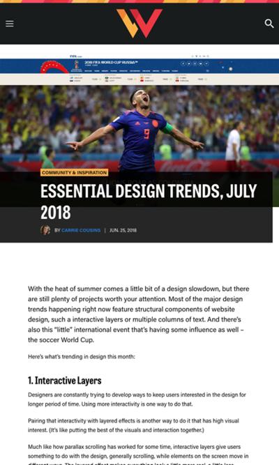 図4 2018年のデザイントレンド3つ