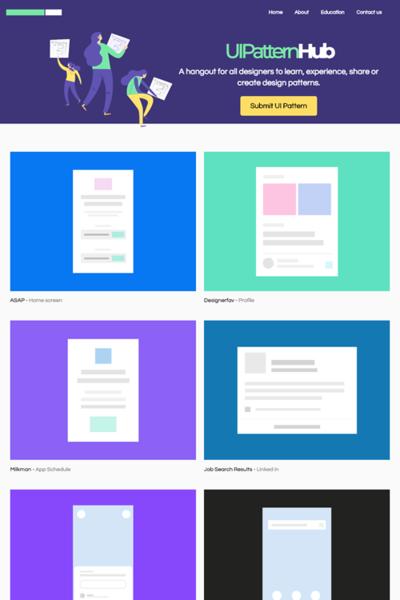 図2 UIデザインパターン集