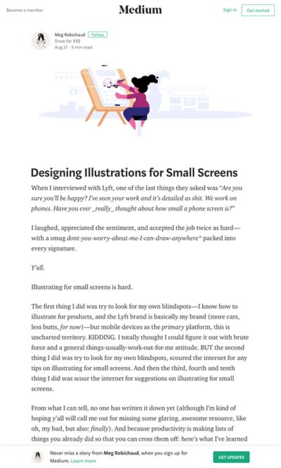 図5 小さい画面向けのイラスト制作のヒント