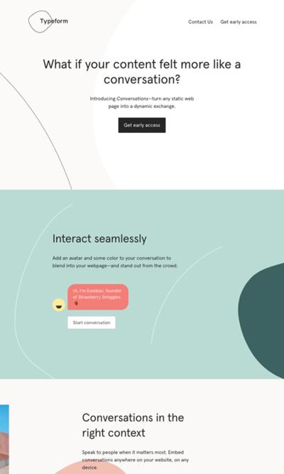 図6 自動応答の会話型フォーム