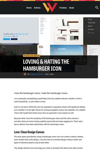 図1 ハンバーガーメニューの良い点と悪い点