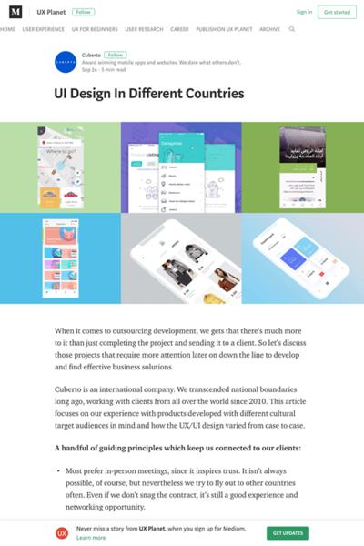 図4 世界各国でのUX/UIデザインの特徴