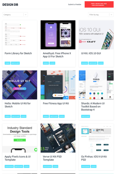 図5 デザイン素材を探してダウンロードできるサイト