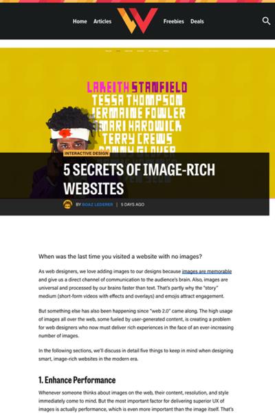 図1 画像を豊富に使ったウェブデザインで気をつけるべき5つの事項