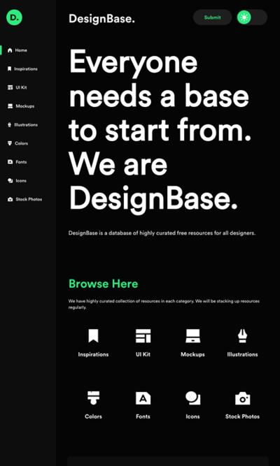 図6 素材やツールの配布サイトをまとめたサービス