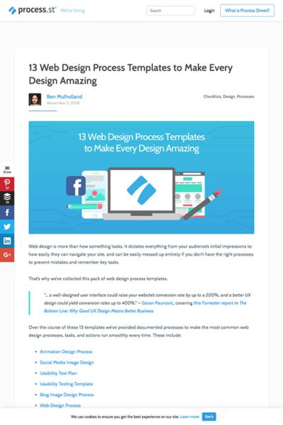 図4 ウェブデザインプロセスのチェックリストいろいろ