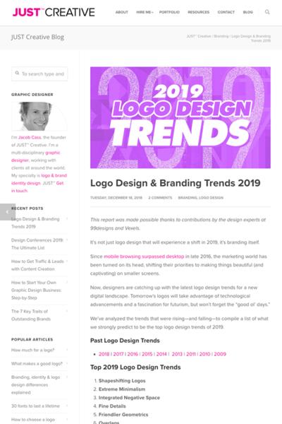 図1 2019年版のロゴデザインのトレンドまとめ