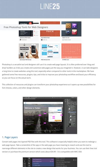 図5 ウェブデザインにPhotoshopを使う際に便利なツールいろいろ