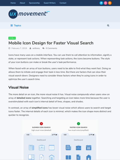 図2 モバイルアイコンのデザインのヒント