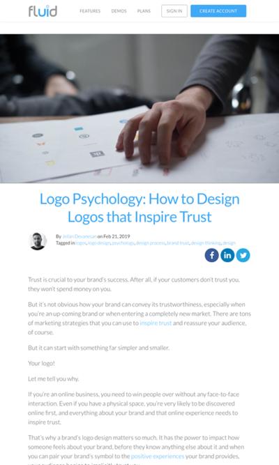 図5 信頼されるロゴをデザインする方法
