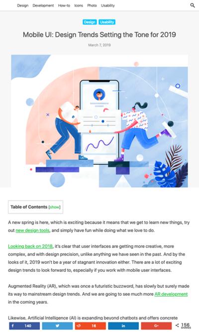 図2 2019年のモバイルUIのトレンド