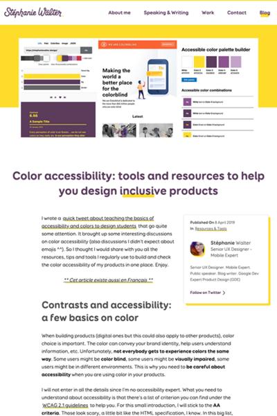図3 カラーアクセシビリティに関する記事やツール