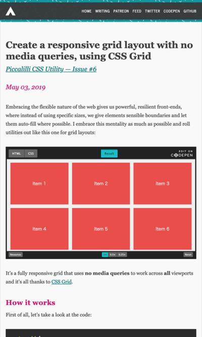 図4 メディアクエリを使わずレスポンシブなグリッドレイアウトを作る方法