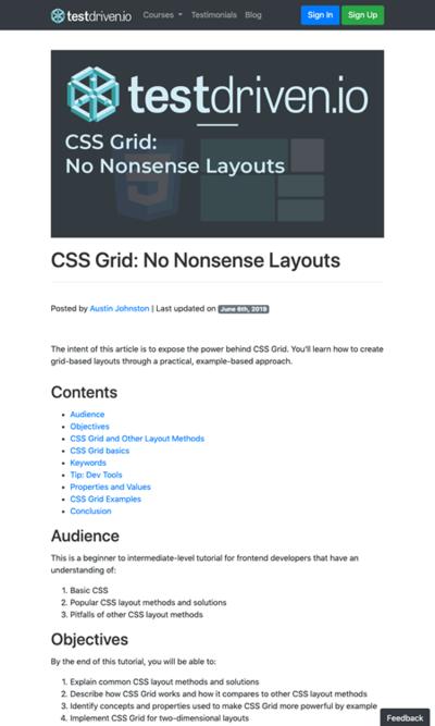 図2 CSSグリッドレイアウトの手法を紹介