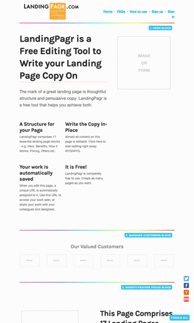 図6 ランディングページのモックアップを簡単に作れるサービス