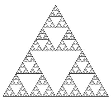 図1 シェルピンスキーギャスケット