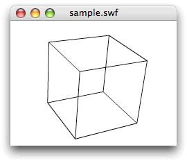 図22 Vector3Dインスタンスの頂点座標を透視投影してワイヤーフレームを描画