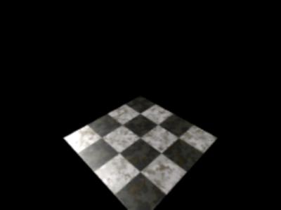 図2 床の平面に石畳のテクスチャが貼られた