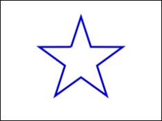 図1 星形が2次元平面で回る