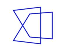 図2 立方体の8頂点がひと筆書きで結ばれたアニメーションになる