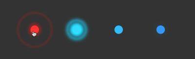図3 マウスポインタを重ねるとアニメーションが変わる
