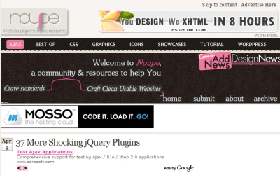 Noupe - 37 More Shocking jQuery Plugins