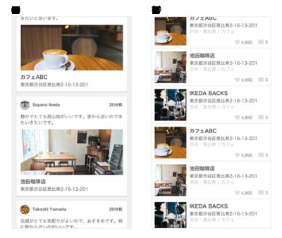 図5 カフェのクチコミサービスでの事例
