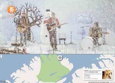図3 寒冷地を選択すると,こんなミュージックビデオに…