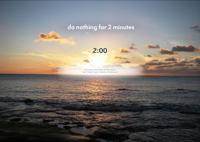 図3 2分の間,何もしてはいけないウェブサイト『Do Nothing for 2 Minutes』