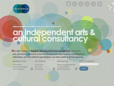 図4 奥行きのある動きが特徴的なイギリスの独立系コンサルタント「cultural solutions」のウェブサイト