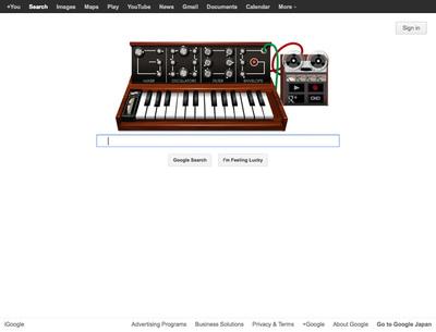 図4 Robert Moogの生誕78周年で公開された『Robert Moog's 78th Birthday』