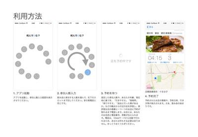 図2 ウェブサイトで紹介されている「1Click飲み」の利用方法