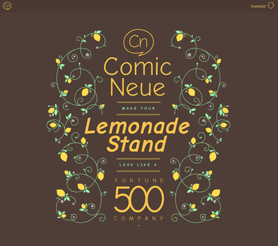 図5 「Comic Sans」の欠点を修正した「Comic Neue」フォントを紹介する『Get Comic Neue』