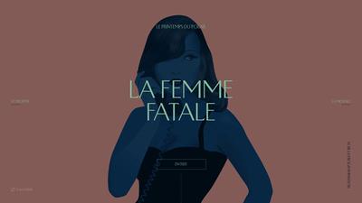 図2 『Le Printemps du Polar』テレビ局Artéの「春の探偵小説」特集の特設サイト。タイポグラフィーによって,ウェブサイトの質が高まる好例のひとつ