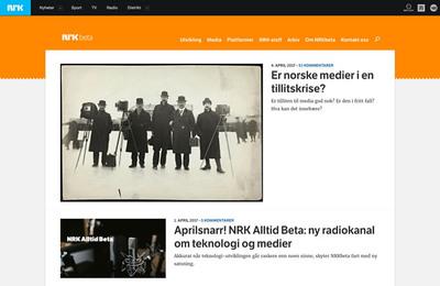 図1 テクノロジーとニューメディアのため実験的サイト『NRKbeta』
