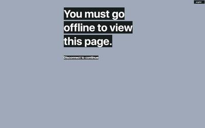 図4 「このページを表示するには,オフラインにする必要があります」という文章だけが掲示されている『Offline Only』