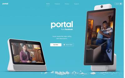 図2 Facebookが発表した個人向けスマートディスプレイ,「Portal」を紹介している『Portal from Facebook』