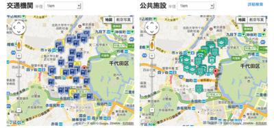周辺施設・交通機関地図例