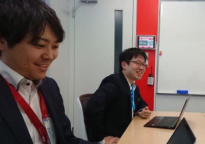 酒井遼平氏(左)と田中正浩氏