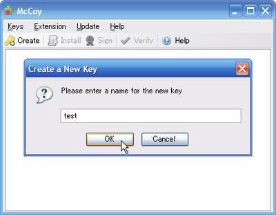 図1 McCoyでの公開鍵・秘密鍵のペア生成