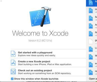 図1 Xcodeを起動