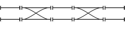図1 複線のレイアウト