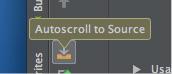 図11 Autoscroll to Sourceのアイコン(Findツールウィンドウより)