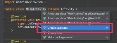 図3 サブクラスや実装クラスを作成する