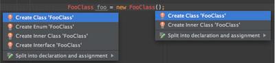 図10 ソースコードからクラスやインターフェイスを生成する