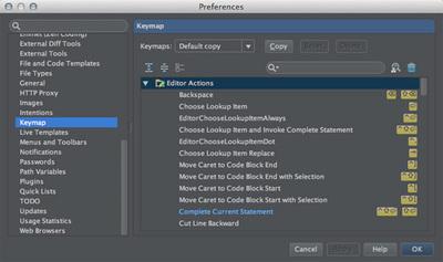 図1 「Prefereces / Keymap」設定画面