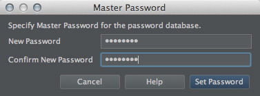 図23 「Master Password」ダイアログ