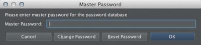 図24 「Master Password」ダイアログ(確認用)