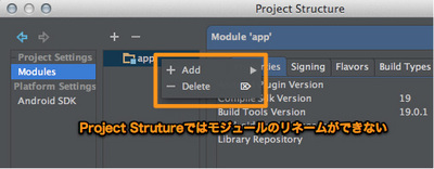 図11 「Project Structure / Modules」設定画面