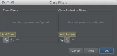 図37 「Class Filters」ダイアログ